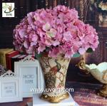 China UVG Purple artificial hydrangea flower and geranium making on china market for weddings wholesale