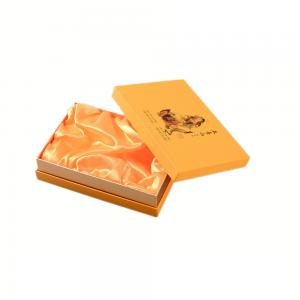 China Hard Paper Gift Box Packaging with Gold Satin Lined on sale