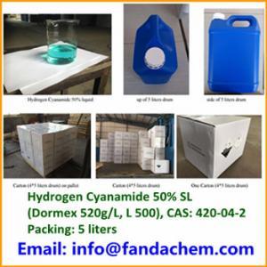 China Hydrogen Cyanamide 50% solution(Dormex 520g/L, L500) from Hangzhou Fandachem Co.,Ltd on sale