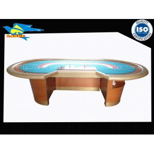 China Dustproof Casino Baccarat Table With Cup Holder / Stable Wooden feet on sale