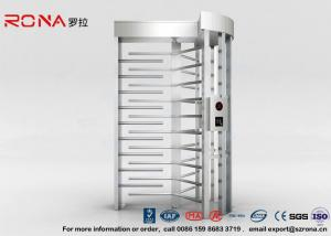 China High Security Full High Turnstile Access Control With Biometric Reader With CE Approved on sale