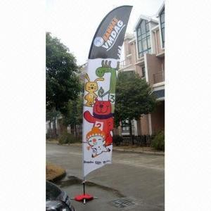 China Decorative Custom Advertising Flags And Banners With Poles + Cross Base + Carry Bag on sale