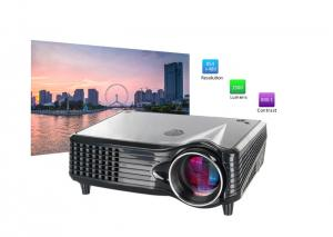 China Portable LCD 800x480 LED Multimedia Projector With HDMI VGA AV USB Port on sale