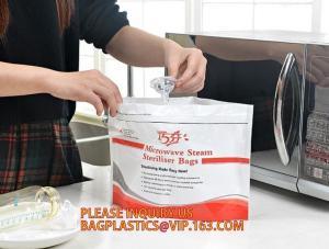 China Mircowave steam sterilizer bag, steriliser bag,LDPE soft milk white plastic bag for dry laundry, plastic laundry bag, 10 on sale