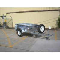 China Safety Galvanised Off Road Trailer 7x5 Box Trailer Independent Suspension on sale