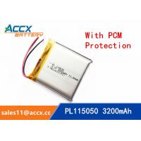 115050 105050 3200mAh 3.7v lithium polymer battery OEM rechargeable lipo battery