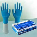 Guantes del examen del látex, guantes disponibles pulverizados látex natural del hospital del látex, guantes sanos del hospital del látex