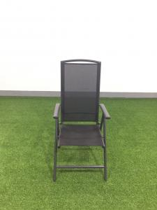 China Outdoor Furnitures sling folded chair with aluminum frame, high back outdoor chair on sale