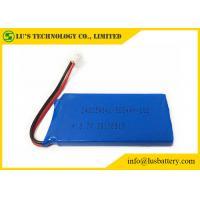 China Blue PVC 3.7 V 500mah Lipo Battery LP 482549 3.7 Volt Lithium Polymer Battery on sale