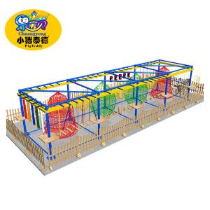 China Rope Course Soft Play Area Equipment , Multifunction Kids Indoor Play Equipment on sale