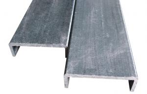 China FRP U Channel , Pultruded FRP C Channel / Fiberglass Channel on sale