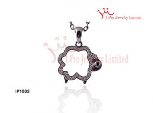 China 925 Sterling Silver pendant with sheep shape in rhodium plated,IP1532 on sale