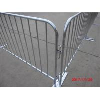 China Galvanized Steel Road Fencing Crowd control barrier ,portable fence,traffic barrier temporary fence barricade on sale