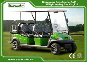 China Excar green 6 Passenger Electric golf carts,48V Trojan battery golf buggy on sale