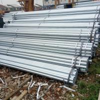 China Hot Dipped Galvanized Steel Round Pipe / Welded GI Pipe Custom Diameters Zinc Coating on sale