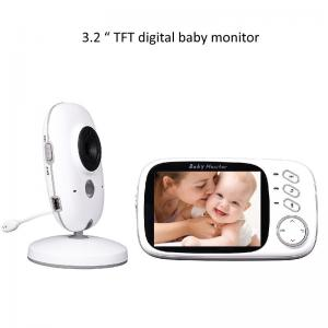 China 3.2 inch Color Wireless Video Baby Monitor 2 Way Talk Night Vision on sale