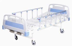 China Metal Hospital Patient Bed  with Side Rails Two Crank For Home Use Medicare on sale