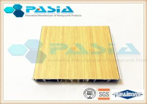 China Aluminium Honeycomb Wall Panels With The Bamboo Pattern Veneer Acid Resistance on sale