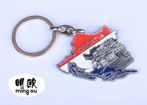 China Fashion Zinc Alloy 3D Custom Metal Keyrings Antique Tin Finishing 25g on sale