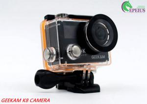China Compact 2 Inch Dual Screen 4k Waterproof Action Video Camera K8 360VR 170 Degree on sale