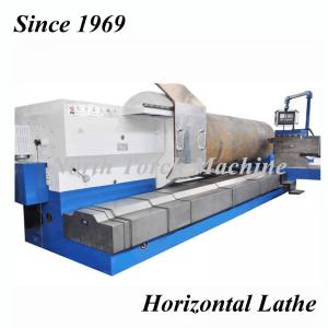 China High quality Heavy Duty Horizontal CNC Lathe Machine for turning steel roll, graphite electrode on sale