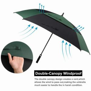 China extra large Wind Proof Double Canopy Umbrella , Durable Square Golf Umbrella EVA Handle on sale