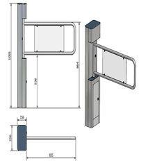 China Security Swing Arm Turnstile Waist High Barrier Turnstile with remote control switch on sale