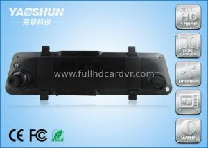 China Dual Lens Car DVR Support External GPS Blue Glass Anti - Glare Rear View Mirror on sale