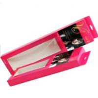 Heat Seal Hair Extension Packaging Box PVC Window Matt Lamination Wig Box With Hang Tag