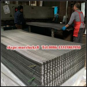 China 9 gau flattened carbon steel expanded metal sheet on sale