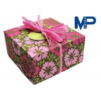 Lock Fashionable Square Texture Paper Gift Boxes For cloth / shoes