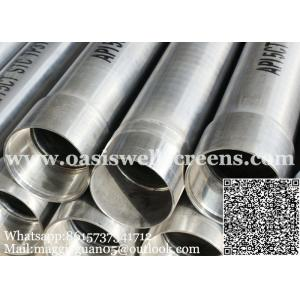 China TP304 API seamless steel stainless well casing with thread connection on sale