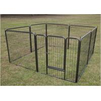 China Eco Friendly Large Dog Fence Kennel , Chain Link Dog Kennel Flooring on sale