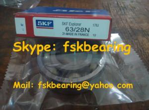 China SKF 63/28N Radial Load Deep Groove Ball Bearings with Snap Ring Groove on sale
