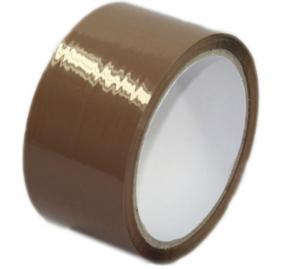 China Transparent / brown / tan color bopp packing tape with water base arcylic adhesive on sale
