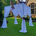 Romantic pipe and drape event decoration for Wedding Backdrops