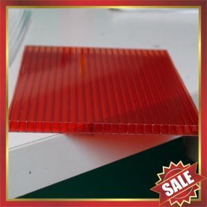 China Красный неубедительный лист поликарбоната, красит неубедительный лист поликарбоната, лист поликарбоната клетки, ПК покрывая для строя крышки on sale