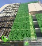 Exterior  Green  Aluminum Facade Panels Metal Curtain Wall Decoration