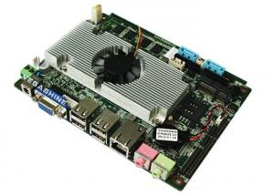 China Intel Atom D525 Processor  3.5 inch 6 COM embedded industrial mainboard DC Power supply on sale