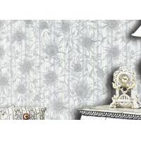 China 1.06m Korean Country Floral Wallpaper / Waterproof Country House Wallpaper , Foam Surface on sale