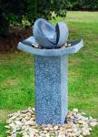 Fontaines d'eau naturelles de pierre de fonte fendue avec le matériel de fibre de verre/résine
