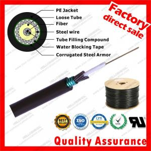 China Outdoor steel wire armored fibre optic network central cable gyxts unitube armored optical fibre supply factory price on sale