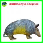 home deco artificial resin statue China protected animal pangolin props as decoration statue