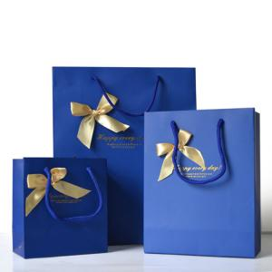 China Promotional Personalized Paper Gift Bags , Paper Shopping Bag With Handles on sale