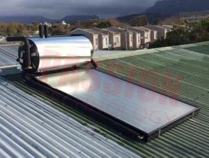 China Washing / Sun Energy Solar Geysers , Flat Plate Solar Water Heater For Bathroom Heating on sale
