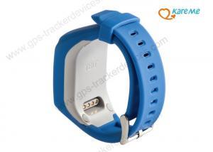 China Blue Mini Digital Kids GPS Tracker Device ,  Anti Lost Wrist  Child Locator Watch on sale