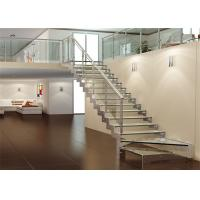 China Carbon Steel Beam Zig Zag Glass Straight Flight Staircase Tempered  Glass Stair Treads On Sale .