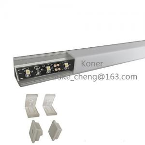 China LED Aluminum Channel Profile, Aluminum Extrusion with Oyster White Vertical Angle Cover V-Shape Corner Mount for 10mm on sale