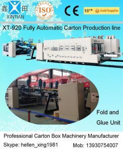 China Automatic Box Folder GLuer Carton Manufacturing Machine With Printing Slotting Inline on sale