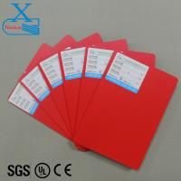 Color pvc sheet 3mm forex board water proof hard board in red color hot sale colorful Christmas decoration board